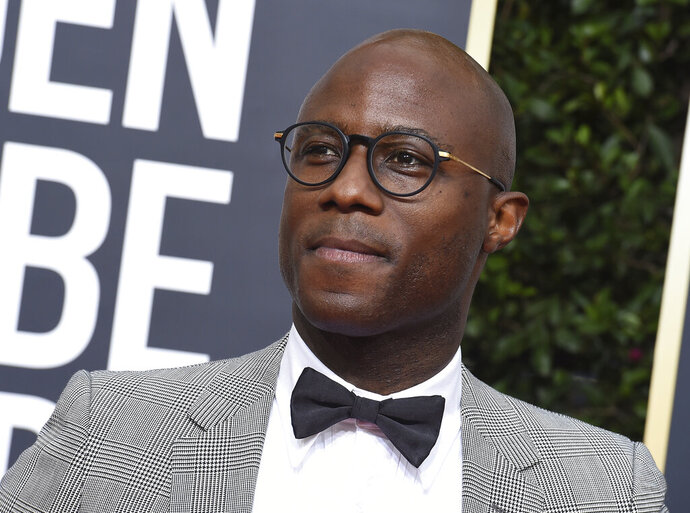 """FILE - Barry Jenkins arrives at the 77th annual Golden Globe Awards in Beverly Hills, Calif., on Jan. 5, 2020. The Walt Disney Co. is developing a sequel to the 2019 live-action """"The Lion King,"""" with Jenkins, the director of the Oscar-winning """"Moonlight"""" and the James Baldwin adaptation """"If Beale Street Could Talk,"""" directing. (Photo by Jordan Strauss/Invision/AP, File)"""