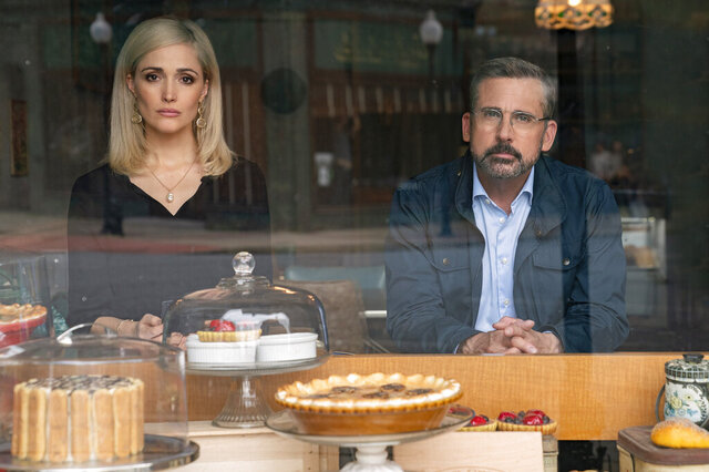 In this image released by Focus Features, Steve Carell, right, and Rose Byrne appear in a scene from