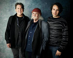 FILE - In this Jan. 26, 2019 photo, producer Cameron Crowe, from left, David Crosby and director A.J. Eaton pose for a portrait to promote the film