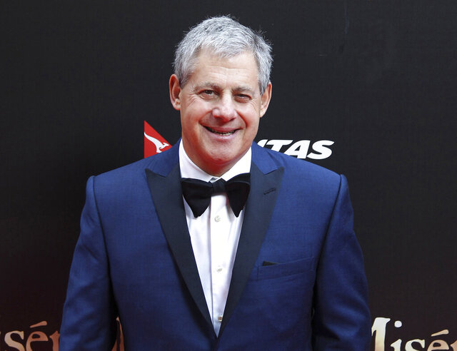 FILE - This Dec. 21, 2012 file photo shows Cameron Mackintosh, producer of the stage production of