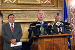 Wisconsin Assembly Speaker Robin Vos, the highest ranking Republican in the state, said he didn't know what aforensic audit of the state's 2020 presidential electionresults would prove on Tuesday, July 27, 2021, during a news conference in the state Capitol in Madison, Wis. Vos said that two other ongoing investigations were sufficient while disagreeing publicly with a GOP colleague who called for yet another, broader probe. (AP Photo/Scott Bauer)