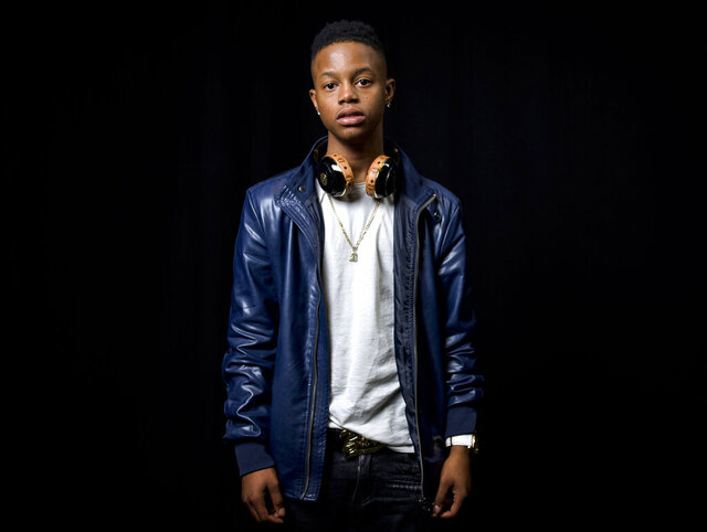 """FILE - In this July 21, 2015, file photo, rapper Silento poses for a portrait in New York. Silento, known for """"Watch Me (Whip/Nae Nae)"""
