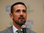 Green Bay Packers head coach Matt LaFleur is introduced at a news conference Wednesday, Jan. 9, 2019, in Green Bay, Wis. (AP Photo/Morry Gash)