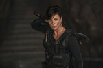 This image released by Netflix shows  Charlize Theron in a scene from