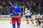 New York Rangers right wing Kaapo Kakko (24) celebrates his goal during the second period of an NHL hockey game against the Florida Panthers, Sunday, Nov. 10, 2019, in New York. (AP Photo/Corey Sipkin)