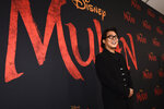 """FILE - Jet Li, a cast member in """"Mulan,"""" poses at the premiere of the film on March 9, 2020, in Los Angeles. Li turns 58 on April 26. (AP Photo/Chris Pizzello, File)"""