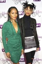 FILE - In this May 3, 2016 file photo, Jada Pinkett Smith, left, and her daughter Willow Smith attend VH1's