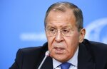 Acting Russian Foreign Minister Sergey Lavrov speaks during his annual roundup news conference summing up his ministry's work in 2019, in Moscow, Russia, Friday, Jan. 17, 2020. (AP Photo/Alexander Zemlianichenko)