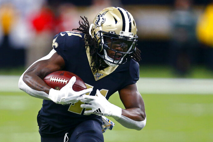 Saints RB Kamara questionable vs Jaguars