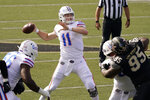 Florida quarterback Kyle Trask (11) passes against Vanderbilt in the first half of an NCAA college football game Saturday, Nov. 21, 2020, in Nashville, Tenn. (AP Photo/Mark Humphrey)