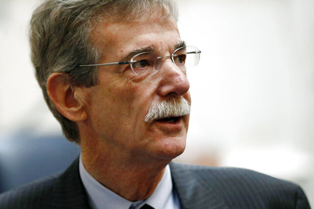"FILE - In this Wednesday, Jan. 30, 2019, file photo, Maryland Attorney General Brian Frosh walks on the House of Delegates chamber floor before Gov. Larry Hogan's annual State of the State address to a joint session of the legislature in Annapolis, Md. Frosh warned Friday, July 10, 2020, of ""devastating consequences"" if all eligible voters are not directly sent ballots to mail in for November's election due to safety concerns about the coronavirus, instead of Gov. Larry Hogan's directive to mail applications for voters to request absentee ballots if they want to vote by mail. (AP Photo/Patrick Semansky, File)"