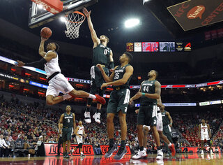 APTOPIX Michigan State Louisville Basketball