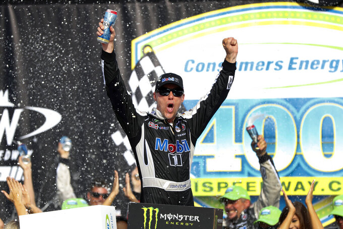 Kevin Harvick wins NASCAR Cup race at Michigan