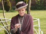 This image released by PBS shows Maggie Smith as the Dowager Countess Grantham in a scene from the second season on