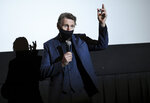 """Actor Liam Neeson introduces his new film """"The Marksman"""" at the AMC Lincoln Square on the first that theaters reopened after COVID-19 closures, Friday, March 5, 2021, in New York. (Photo by Evan Agostini/Invision/AP)"""
