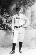 FILE - This is a circa 1876 file photo showing Chicago White Stockings baseball player Adrian