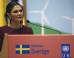 Sweden's Crown Princess Victoria speaks during the planning session
