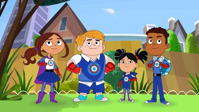 This image released by PBS Kids shows characters from the TV series
