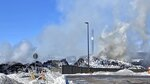 "A massive fire at Northern Metal recycling in Becker, Minnesota, that has been burning for days, seemed to be under control Thursday morning, Feb. 20, 2020. The Becker Police Department posted Thursday  that ""major progress"