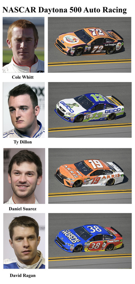 Cole Whitt, Ty Dillon, Daniel Suarez, David Ragan