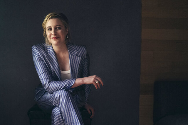 In this Tuesday, Dec. 10, 2019, photo, actor and director, Greta Gerwig, poses for a portrait in New York. Gerwig's film,