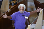 Nebraska state Sen. Ernie Chambers of Omaha speaks during debate in Lincoln, Neb., Thursday, Aug. 13, 2020, on the last day of a legislative session marked by major disruptions from the coronavirus and political feuds that often turned personal. (AP Photo/Nati Harnik)