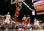 Stanford forward Oscar da Silva (13) dunks during the first half of an NCAA college basketball game against Washington State in Pullman, Wash., Saturday, Jan. 19, 2019. (AP Photo/Young Kwak)