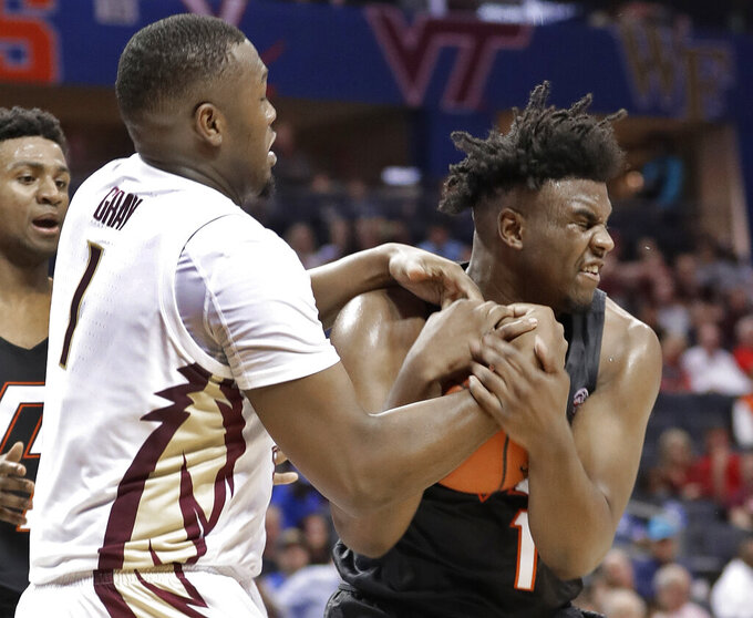 No. 12 FSU beats No. 16 Virginia Tech 65-63 in OT at ACCs