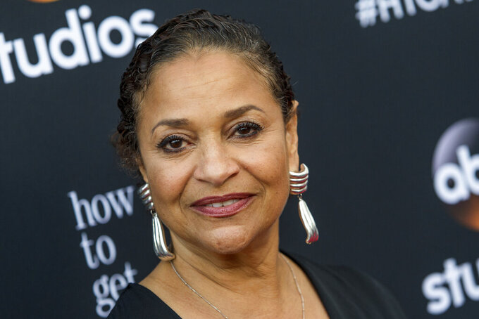 """FILE - In this May 28, 2015, file photo, Debbie Allen attends the """"How To Get Away With Murder"""" ATAS Event at Sunset-Gower Studios, in Los Angeles. This year's Kennedy Center Honors will be a slimmed-down affair as the nation emerges from the coronavirus pandemic. The 43rd class of honorees includes country music legend Garth Brooks, dancer and choreographer Debbie Allen, actor Dick Van Dyke, singer-songwriter Joan Baez and violinist Midori. (Photo by Paul A. Hebert/Invision/AP, File)"""