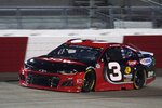 Austin Dillon (3) drives into turn one during a NASCAR Cup Series auto race Saturday, Sept. 12, 2020, in Richmond, Va. (AP Photo/Steve Helber)