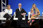 Sara Rea, from left, Tim Gunn and Heidi Klum appear at the