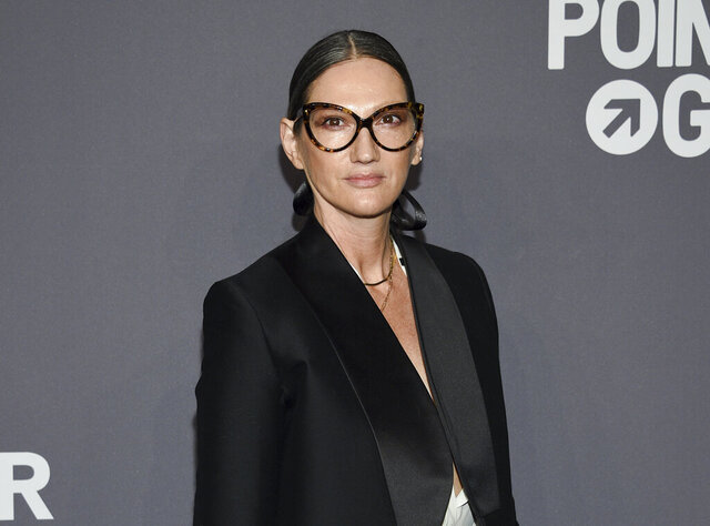 "FILE - Jenna Lyons attends the amfAR Gala New York AIDS research benefit in New York on Feb. 6, 2019. The former J. Crew President and Creative Director has pivoted, and is now building her own brand on reality TV. Her new HBO Max show, ""Stylish with Jenna Lyons,"" which brings her design acumen to home, fashion and beauty projects, launches this week. (Photo by Evan Agostini/Invision/AP, File)"