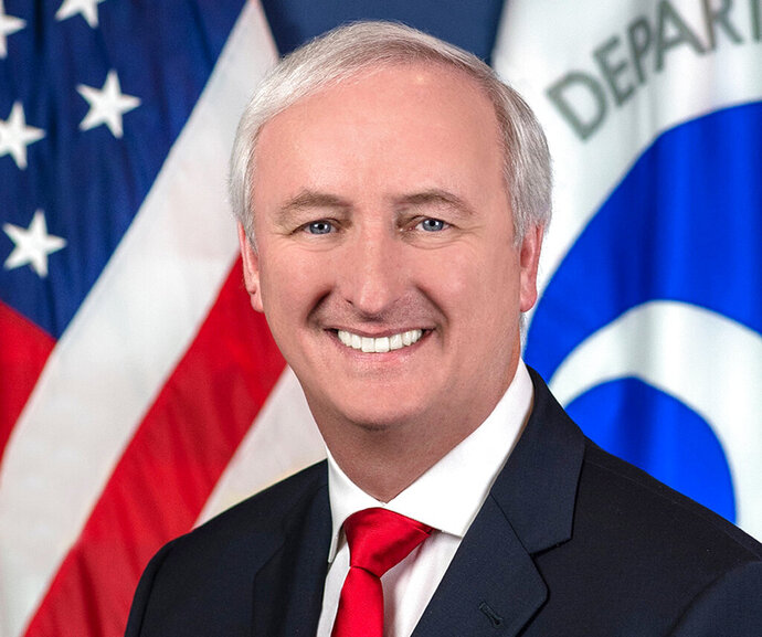 In this image provided by the Department of Transportation, deputy transportation secretary Jeffrey Rosen is shown in his official portrait in Washington. President Donald Trump has nominated Rosen to be the next deputy attorney general. (Department of Transportation via AP)
