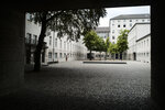 In this Friday, July 12, 2019 photo general view inside the courtyard of the Bendlerblock building of the German defensive ministry where the German Resistance Memorial Center is located, in Berlin. Several leaders of the failed assassinate to Adolf Hitler on July 20, 1944 was shoot dead in the courtyard. (AP Photo/Markus Schreiber)