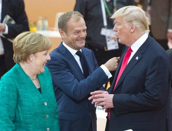 Donald Trump, Angela Merkel, Donald Tusk