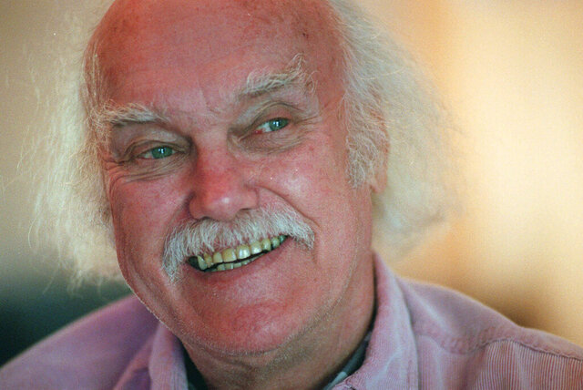 FILE - In this Oct. 21, 1998 file photo, Ram Dass, best known for the 1971 bestseller