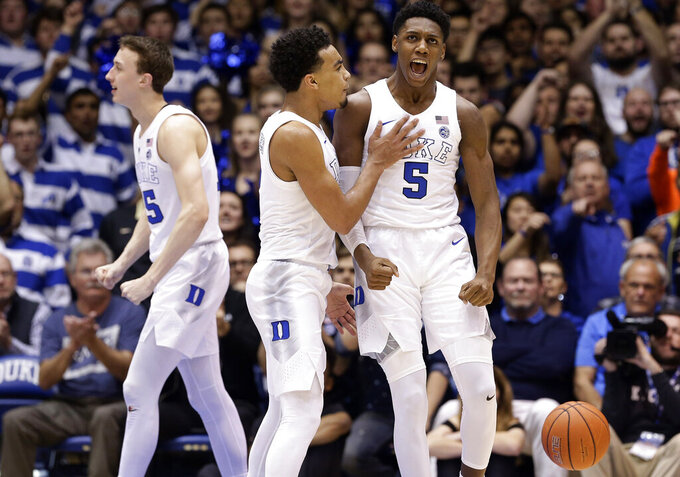 No. 4 Duke holds on for 71-70 victory over Wake Forest