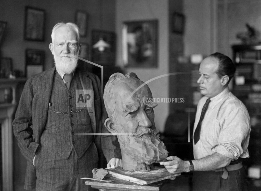 Watchf AP I   XEN GBR APHS365841 George Bernard Shaw with Sava Botzaris