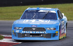 Austin Cindric races his car during a NASCAR Xfinity Series auto race, Saturday, Aug. 10, 2019, at Mid-Ohio Sports Car Course in Lexington, Ohio. (AP Photo/Tom E. Puskar)