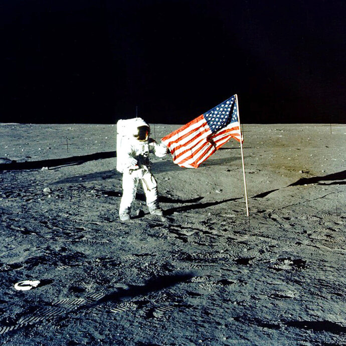 FILE - In this November 1969 photo provided by NASA, Apollo 12 mission Commander Charles P.
