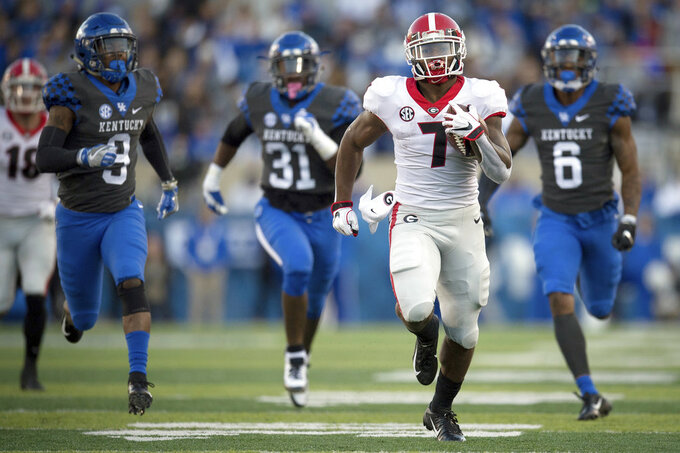 No. 5 Georgia carries on its tradition as Running Back U