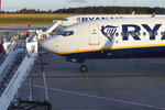 Aircraft of Irish Ryanair airline stand on the tarmac of the Hahn airport, western Germany, Friday, Aug. 10, 2018 when several flights were cancelled due to a strike of pilots. (Thomas Frey/dpa via AP)