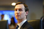 White House adviser Jared Kushner listens during a teleconference with governors at the Federal Emergency Management Agency headquarters, Thursday, March 19, 2020, in Washington. (AP Photo/Evan Vucci, Pool)