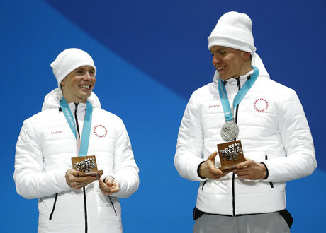 Pyeongchang Olympics Medals Ceremony Cross Country Men