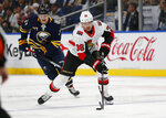 Ottawa Senators forward Colin White (36) controls the puck during the first period of the team's NHL hockey game against the Buffalo Sabres, Saturday, Nov. 16, 2019, in Buffalo, N.Y. (AP Photo/Jeffrey T. Barnes)