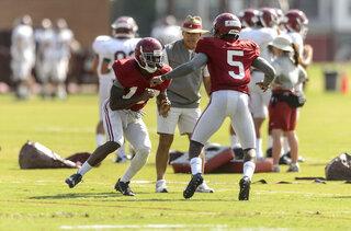Alabama Football Gameweek 01 Monday Practice