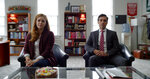 """This mage released by Universal Pictures shows Amy Adams, left, and Danny Pino in a scene from """"Dear Evan Hansen."""" (Universal Pictures via AP)"""
