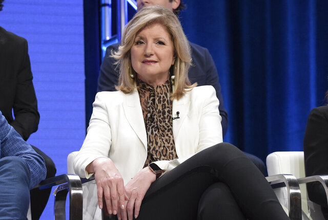 FILE - In this July 25, 2018 file photo, executive producer Arianna Huffington participates in the