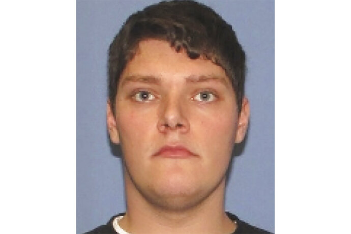 This undated photo provided by the Dayton Police Department shows Connor Betts. The 24-year-old masked gunman in body armor opened fire early Sunday, Aug. 4, 2019, in a popular entertainment district in Dayton, Ohio, killing several people, including his sister, and wounding dozens before he was quickly slain by police, officials said. (Dayton Police Department via AP)