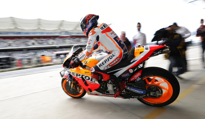 Marquez again wins pole position at MotoGP in Austin